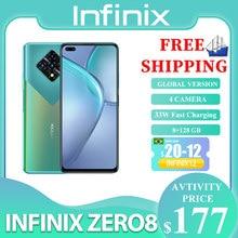 Infinix zero 8 versão global 128g 8g ram octa núcleo 4 90 hz 6,8