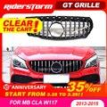 Для CLA W117 GT решетка Передняя GTR гриль для Mercedes CLA class W117 CLA200 cla220 CLA250 cla260 cla300 abs решетка без эмблемы