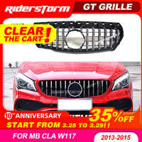 For CLA W117 GT Grille Front GTR Grill for Mercedes CLA class W117 CLA200 cla220 CLA250 cla260 cla300 abs grille Without emblem