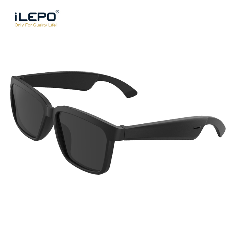 Smart Bluetooth Bone Conduction Headset Polarized Sunglasses Car Sports Anti-Blu-ray Glasses Earphone Wireless Headphones