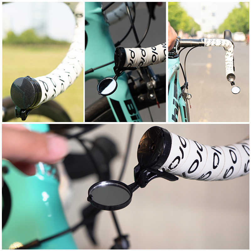 Mountain Bike Road Bicycle Adjustable Rotatable Handlebar Plug Mirror