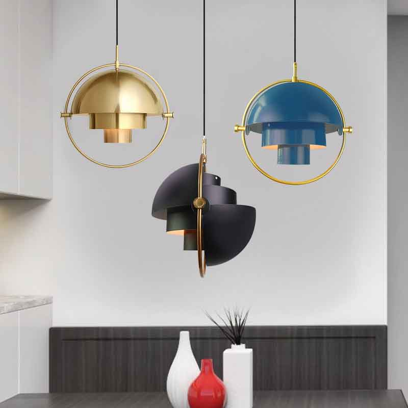 Multi Color Danmark Indoor Designer Metal Pendant Lighting Semicircular Personality Kitchen Dining Table Light Luminaria Lamp