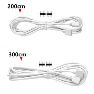 4 PIN RGB led stecker Verlängerung kabel Draht + 4pin anschlüsse 1M 2M 5M 10m 30cm für SMD 5050 3528 RGB LED Streifen licht