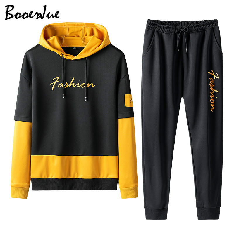 Casual Hoodie Sets Sweatshirt Suit Men Jogger Suits 2 Piece Winter Pant Suit Men Fashions Tracksuit Men Women Sweat Jacket+Pants