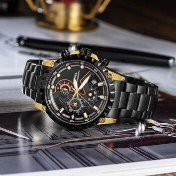 Smael Horloge Recreatieve Mannen Stalen Band Leisure Business 9006 Waterdichte Nachtlampje Wijzerplaat Quartz Core Mannen Relogio Masculino