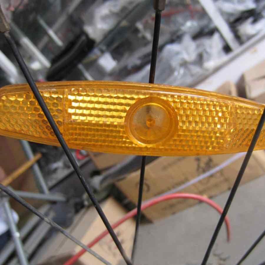 Mountain road bike luz de segurança da roda de bicicleta luz de advertência de segurança reflexiva luz da cauda peças da bicicleta luz de advertência de segurança