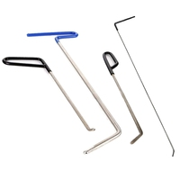 Rods Tools Hail Repair Kit Paintless Dent Removal Puller Sets Car Door Dings Repair Hand Tools (4 Pieces)