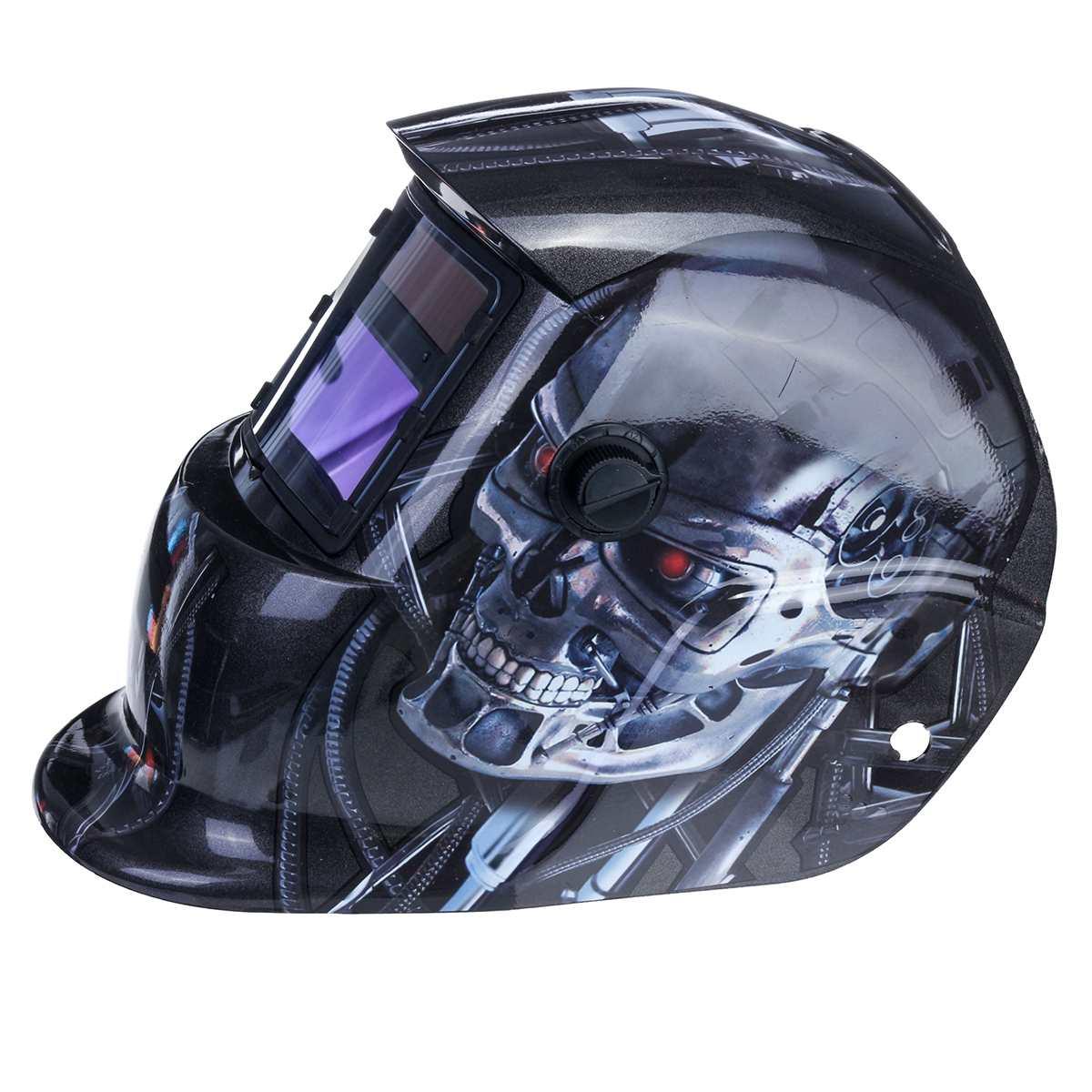 Casco de soldadura automático máscara casco soldadura eléctrica Auto oscurecimiento soldadura TIG MIG máscara de lente de soldadura