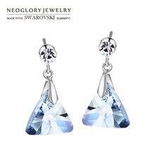 Neoglory, Австрийские кристаллы и Чешские стразы, длинные висячие серьги, геомерные, треугольные, стильные, вечерние, элегантные, трендовые, для девушек, на каждый день, распродажа