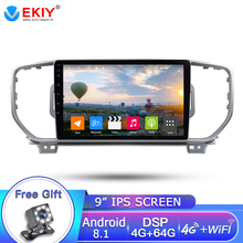 EKIY 9» 2DIN IPS Car Radio For Kia Sportage KX5 2010-2016 Car Multimedia Video Player Navigation GPS Android 8.1 Audio 2Din Dvd