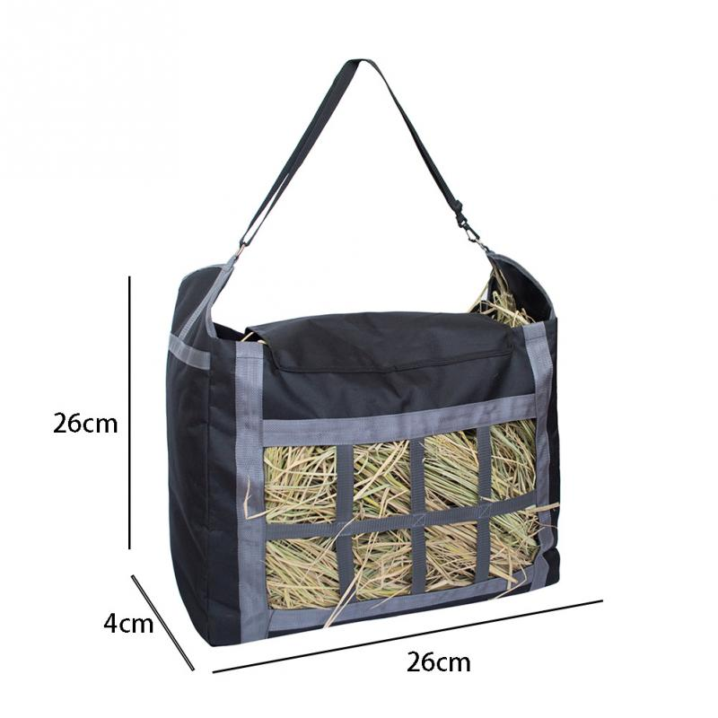 Practical Portable Space Saving Large Capacity Hay Bag Outdoor Farm Horse Feeding Storage Hanging Home Heavy Duty Tote