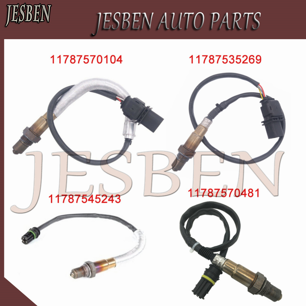 4 Uds 11787570481, 11787545243, 11787535269, 11787570104 arriba abajo sonda Lambda O2 compatible con sensor de oxígeno para BMW 1 3 120i 320i E90