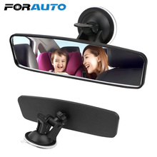 Rearview-Mirror Universal Suction-Cup Interior FORAUTO Wide-Angle Car Adjustable Rotates