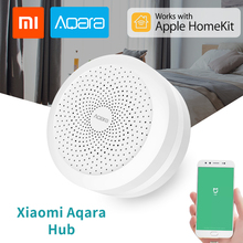 Xiaomi Aqara Gateway Hub For Apple Homekit with RGB Led night light Smart Home Center Support Aqara MIJIA Home App Voice Control updated version xiaomi mijia smart multifunctional gateway 2 wifi remote center control 16 million rgb lights smart home