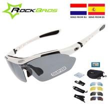 ¡Caliente! RockBros-gafas de sol polarizadas para ciclismo, lentes para deportes al aire libre, ciclismo de montaña o de carretera, TR90, 5 lentes