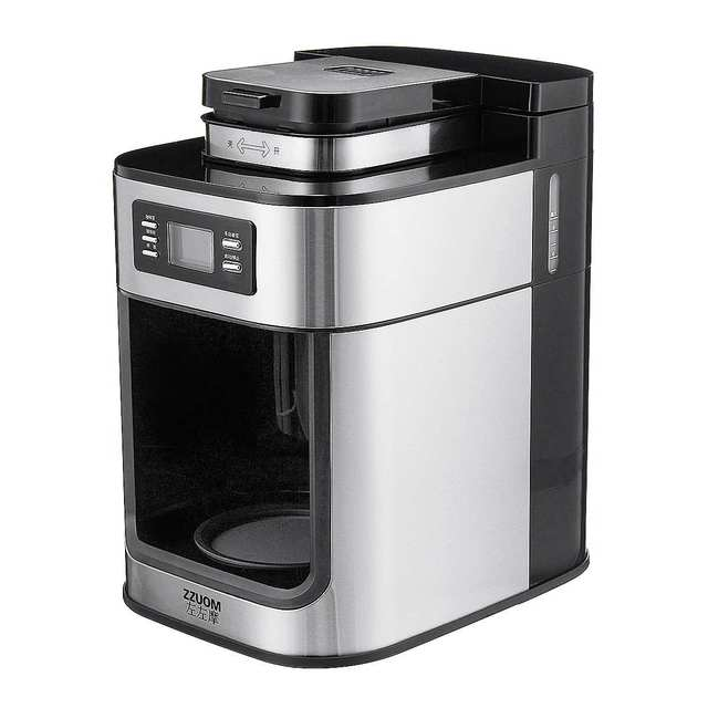 1000W Electric Coffee Maker Machine Fully-Automatic Drip Coffee Maker Tea Coffee Pot Barista Home Kitchen Appliance 1200ml 220V 5