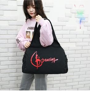 Image 4 - Jimnastik spor Yoga dans çantası kızlar için çanta Crossbody tuval büyük kapasiteli çanta kadın bale dans çantası yetişkin bale çanta