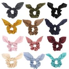 Hair Accessories 12 Pcs Scrunchies Elastics Chiffon Bow for Women Fashion Ties Cute Ponytail
