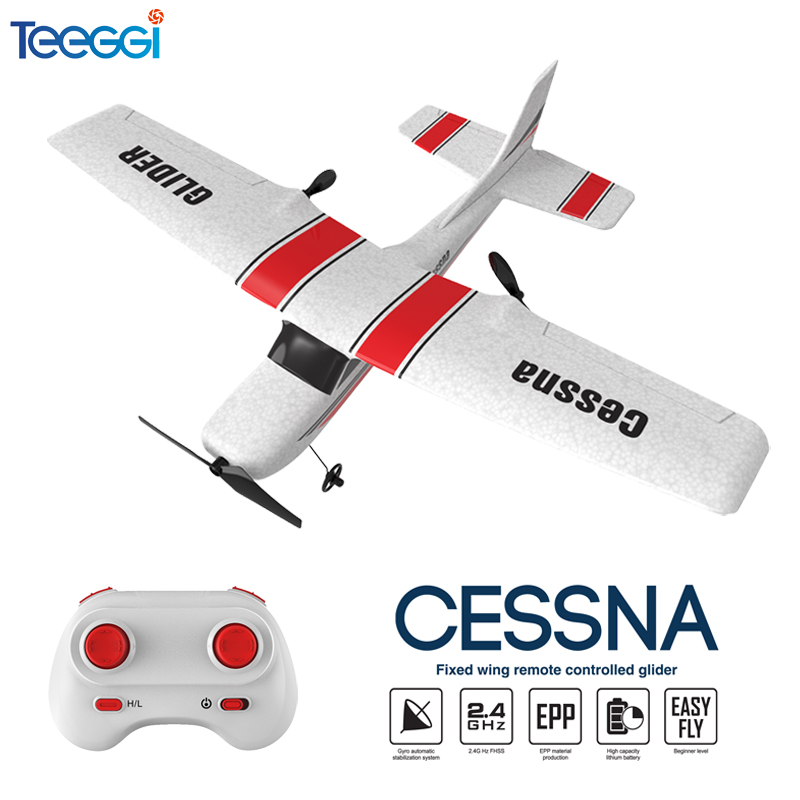 Z53 RC Plane EPP Foam Glider RC Airplane Gyro 2.4G 2CH Remote Control Wingspan Cessna 182T Electric Outdoor Fixed Wing Aircraft