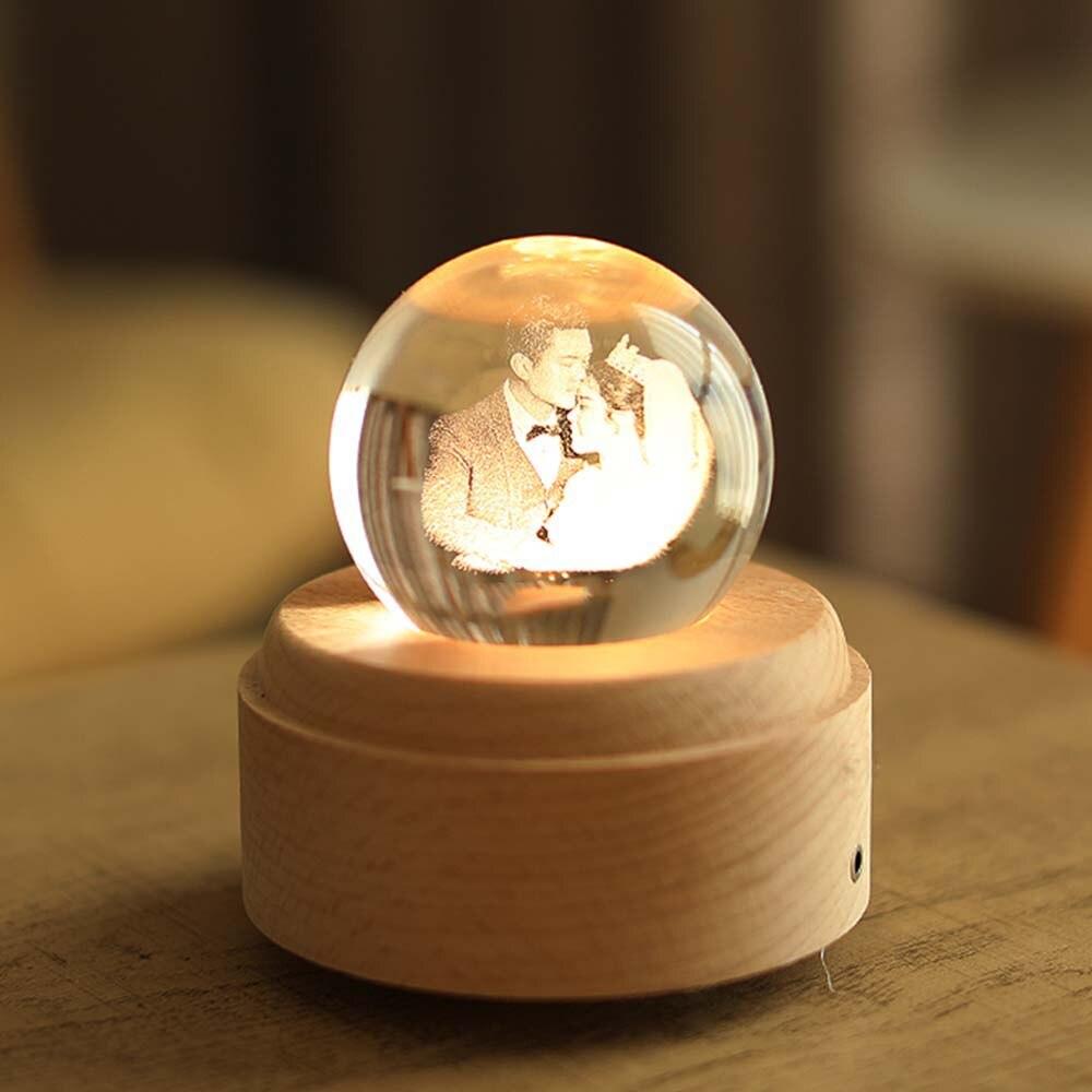 Free Shipping Customized 3D Night Light USB Wooden Base DIY Night Lamp For Wedding Christmas Gift Holiday Light Custom Photo