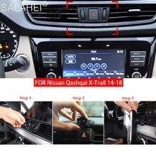 Uchwyt samochodowy do telefonu dla Nissan Qashqai x trail J11 2014 2015 2016 2017 2018 odpowietrznik mocowanie zacisków GPS uchwyt do smartfona stojak