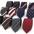 Для Мужчин's узкий галстук хлопок полосатый галстук-бабочка мужской 8 см праздничная одежда Бизнес Повседневное профессиональная работа пр...