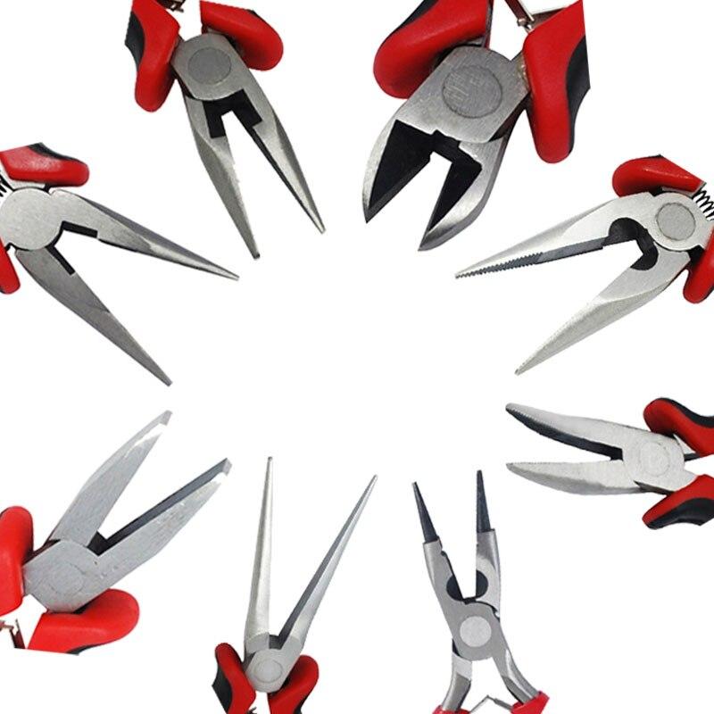 Плоскогубцы для ювелирных изделий плоскогубцы бокорезы/проволочный резак/круглый нос/боковые режущие плоскогубцы для материалы для изготовления украшений F70 Инструменты и оборудование для украшений      АлиЭкспресс