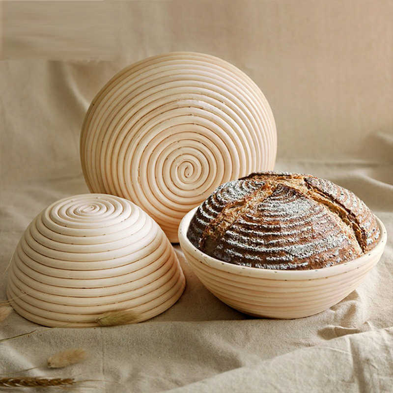 Rattan Oval Proofing Bread Basket with Liner Baguette Dough Pastry Baking Bowl Baking Food Storage Baskets Organizer