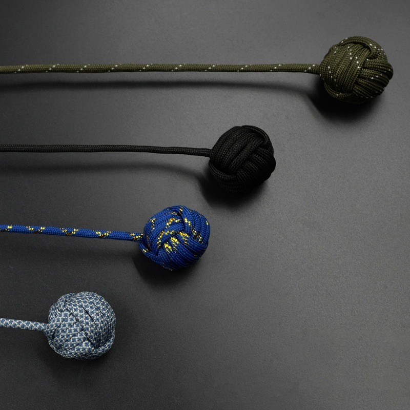 Fidget-Toy Begleri Worry-Beads Stress Paracord Electroplating Finger-Skill Steel-Ball img4