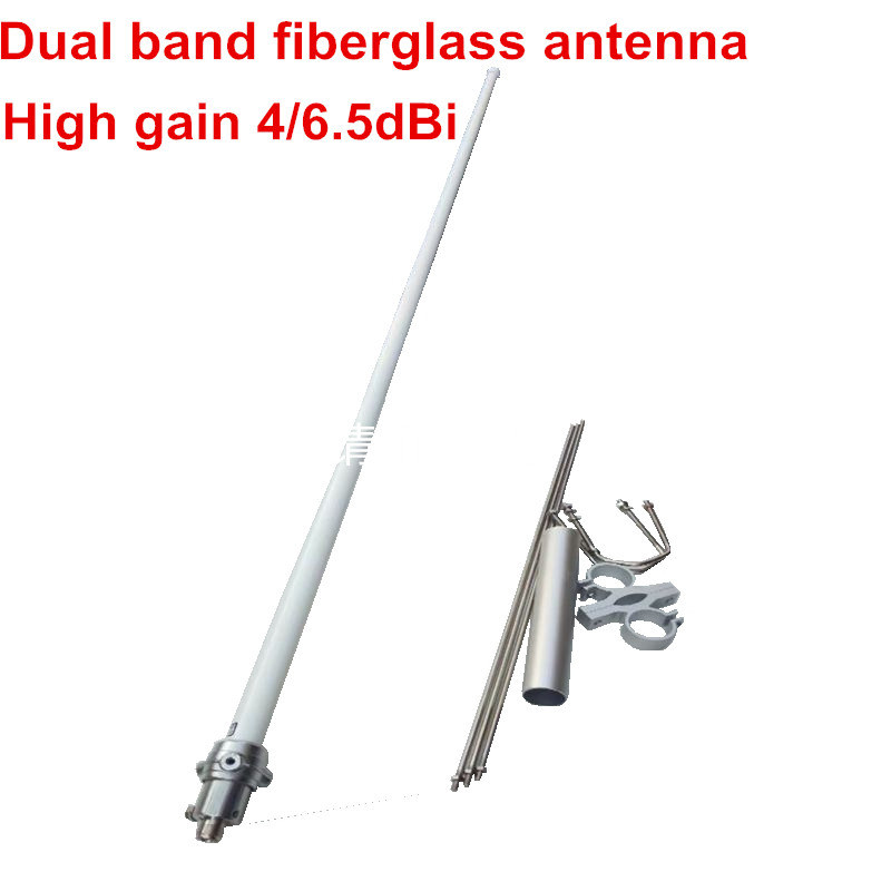 Long Distance1.5meter Dual Band Fiberglass Antenna 136-174M 400-470M Ham Radio High Gain UV Band Base Station Fiberglass Antenna