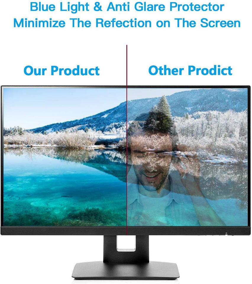 OLED /& QLED 4K HDTV,1269x721mm Non-Glare Ultra-Clear Eye Protection Screen Filter for LCD BYCDD 58 Inches Anti-Blue Light TV Screen Protector LED