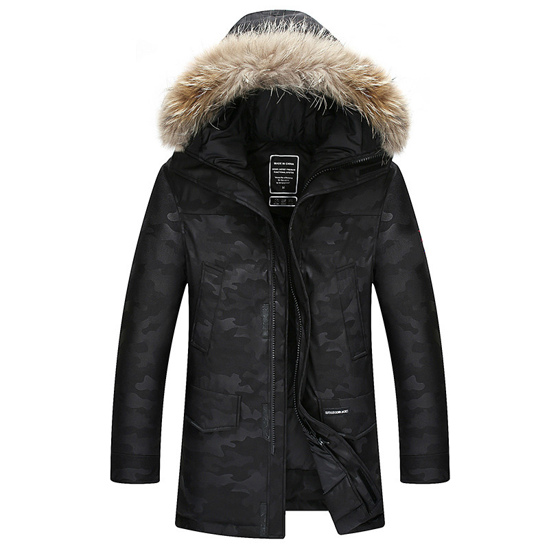 90%Down Jackets Men Winter Jacket Men Fashion Thick Warm Parkas Fur White Duck Down Coats Casual Man Waterproof Down Jackets NF2