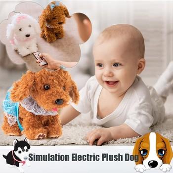Dzieci realistyczne Teddy Dog Luckys 30cm interaktywne pluszowe zabawki dla psów elektroniczne pluszowe zabawki dla dzieci prezent na boże narodzenie pluszowe zabawki tanie i dobre opinie CN (pochodzenie) 2-4 lat Electric pet dog Unisex Z tworzywa sztucznego Zasilanie bateryjne electronic Certyfikat none