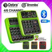 Drembo 4/6 قناة بروتابلي الرقمية الصوت خلاط وحدة التحكم مع الصوت بطاقة ، بلوتوث ، USB ، 48V السلطة الوهمية ل DJ PC تسجيل