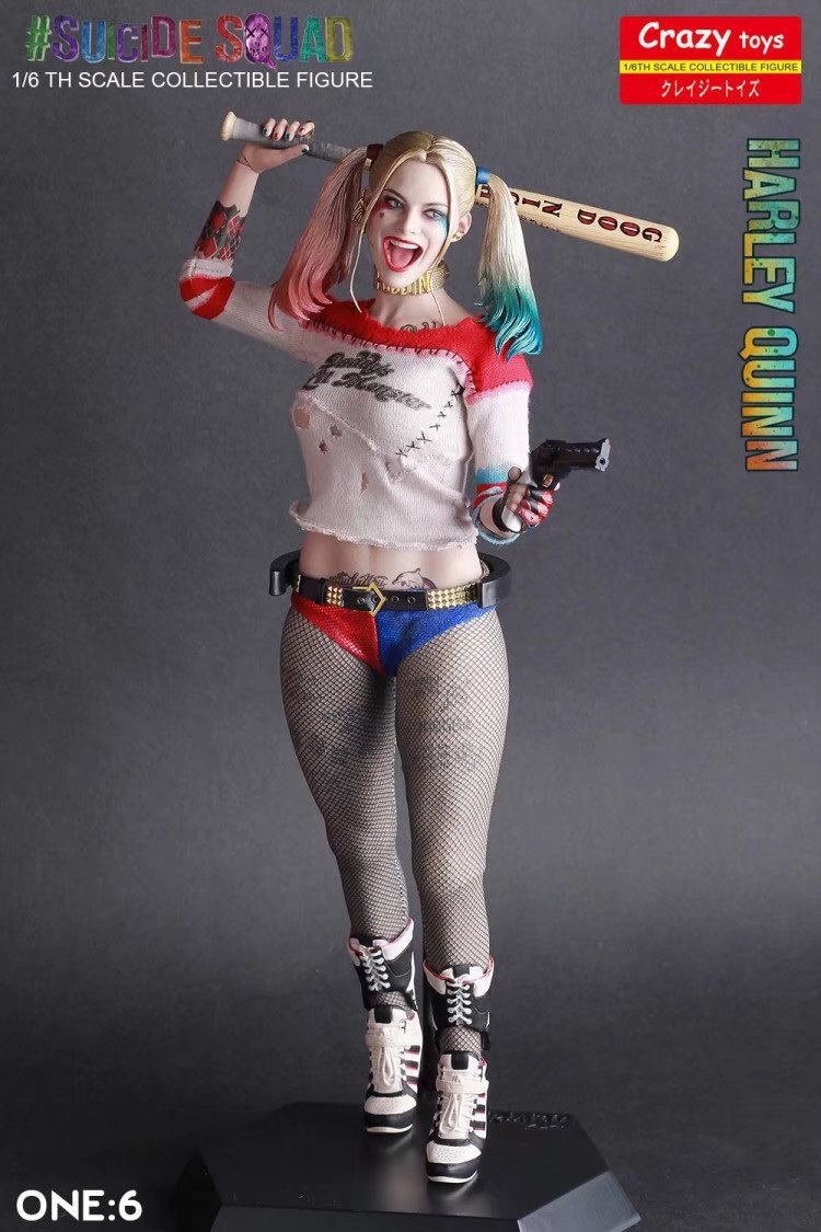 Crazy Toys Undressed Real Clothes Suicide Squad Sexy Harley Quinn 1/6 Scale Action Figure Toys Doll For Gift