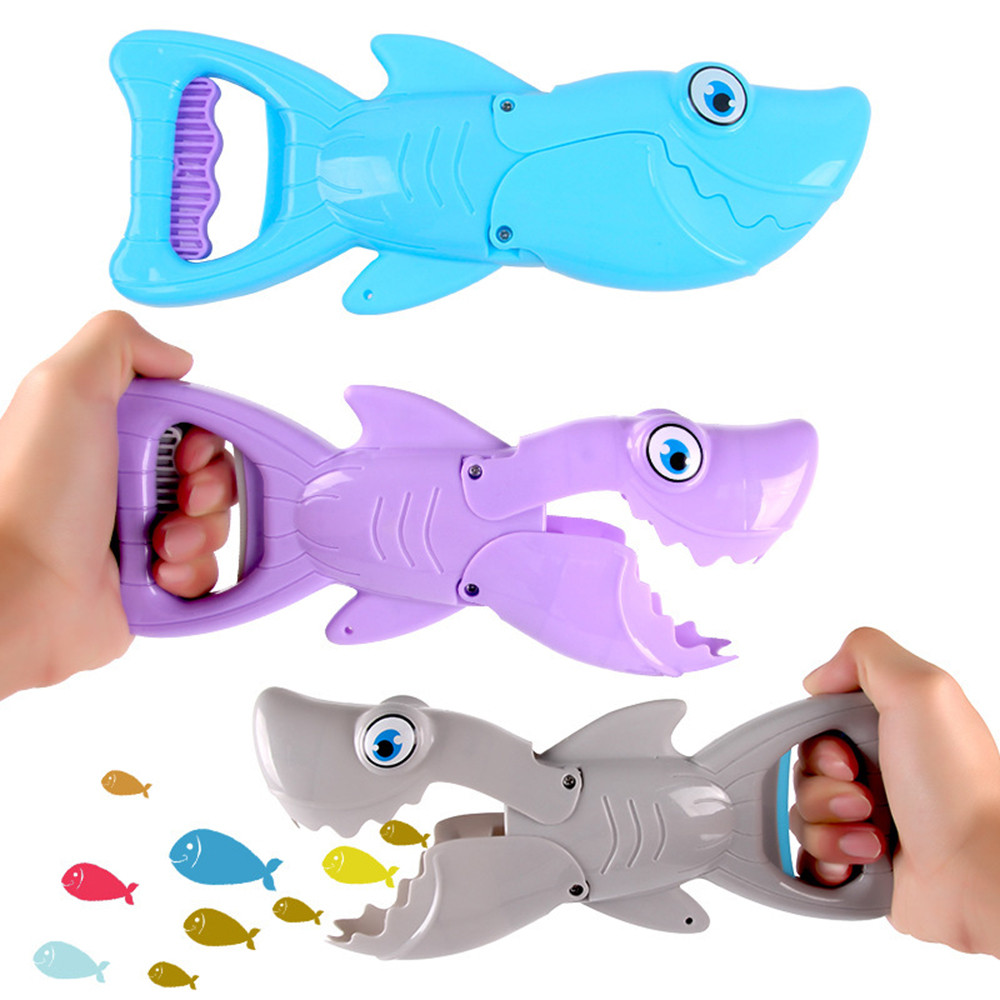 Learning Education Toys Educational Toys For Babies S-hark G-rabber Bath Blue S-hark with Teeth For Kids Toys Y108