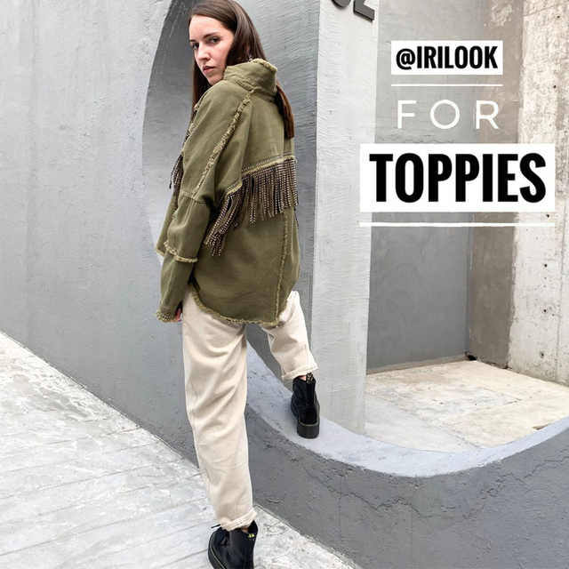 Toppies 2020 printemps glands pour poitrine Denim veste lâche armée vert bouton manteau femme jean veste irrégulière ourlet Streetwear 5