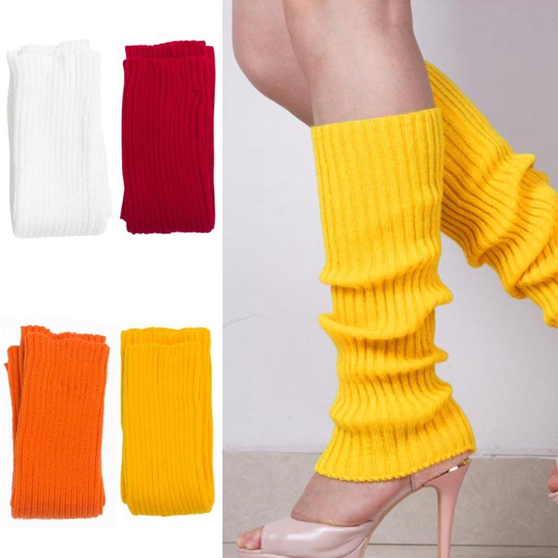 Casual Woman Thigh Knitted Leg Warmers Stockings Boot Cover Leggings Slouch Boot Stockings Knee High Long Socks Dropshipping