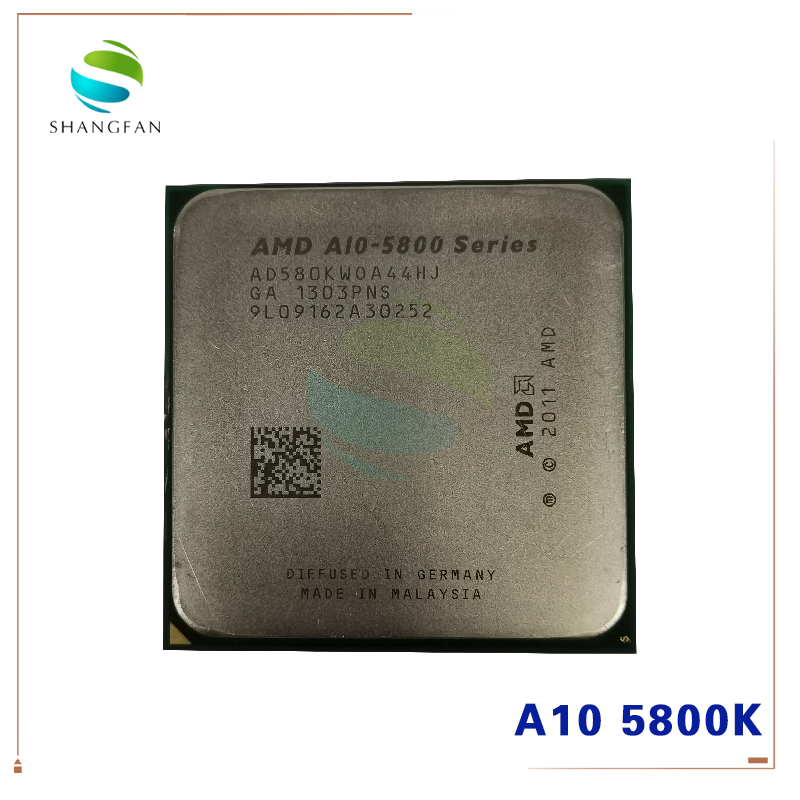 AMD A-Series A10-5800 A10 5800  A10 5800K A10-5800K 3.8Ghz 100W Quad-Core CPU Processor AD580KWOA44HJ Socket FM2