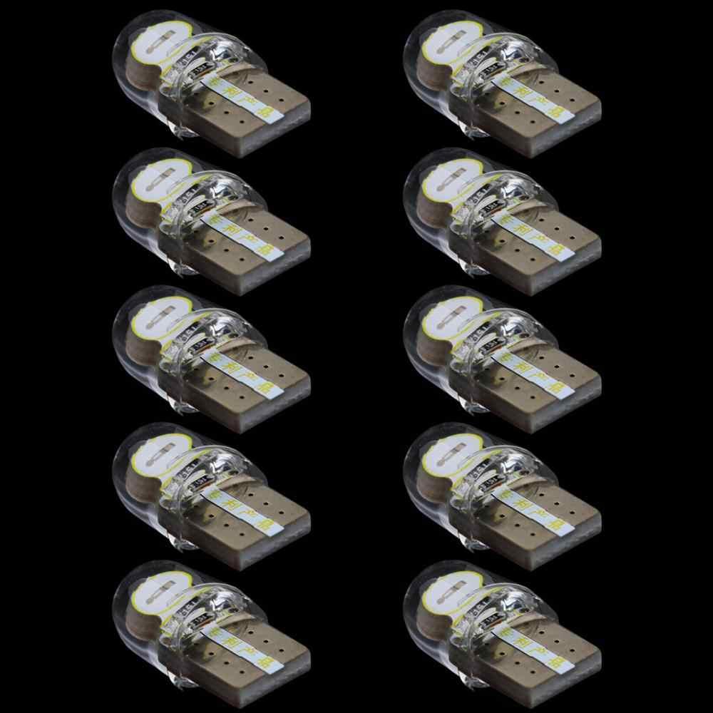10 шт. Автомобильный светодиодный фонарь T10 светодиодный водонепроницаемый кремнезем яркий номерной знак Клин лампа длительный срок службы более низкое энергопотребление