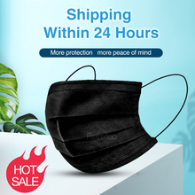 10pcs black full protective face mask facial protection disposable masks anti dust air pollution PM2.5 mascarillas mouth shield