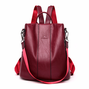 Image 2 - Luxury Backpacks Women Designer 2019 Sac A Dos  Rucksacks For Girls Vintage Bagpack Women Leather Backpack Ladies Casual Daypack
