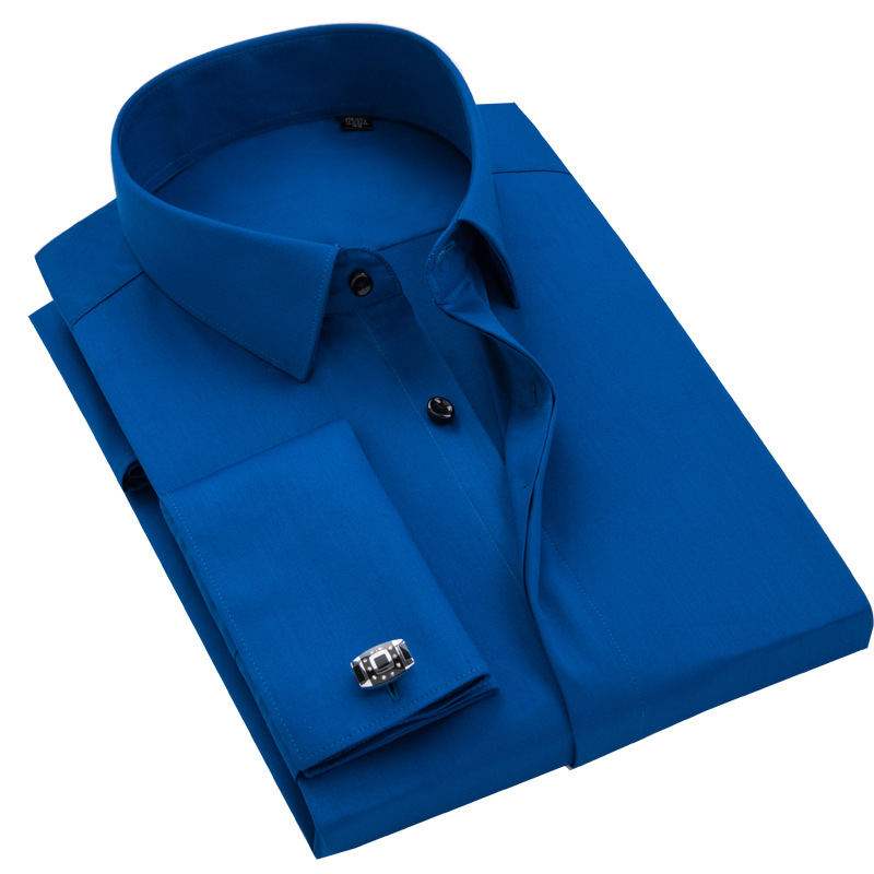 Shirts Cufflinks Comfortable-Soft-Dress Long-Sleeve Bamboo-Fiber French Formal Quality