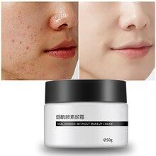 Nicotinamide Face Cream Whitening Tender Cream Moisturizing Oil-Control Brighten Lazy Nude Concealer Makeup Skin Care 50g цена
