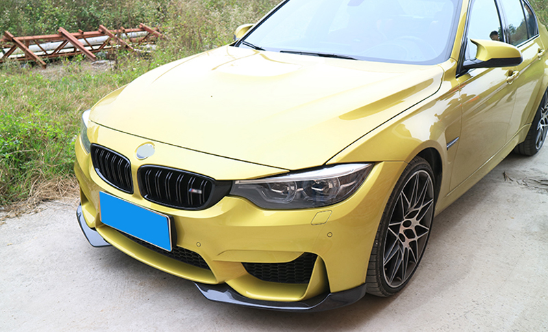 Carbon Fiber Front Bumper Lip Splitters Apron Flaps for BMW F80 M3 F82 M4 Coupe 2 Door 2014 2017 2PCs Set Car Styling in Body Kits from Automobiles Motorcycles