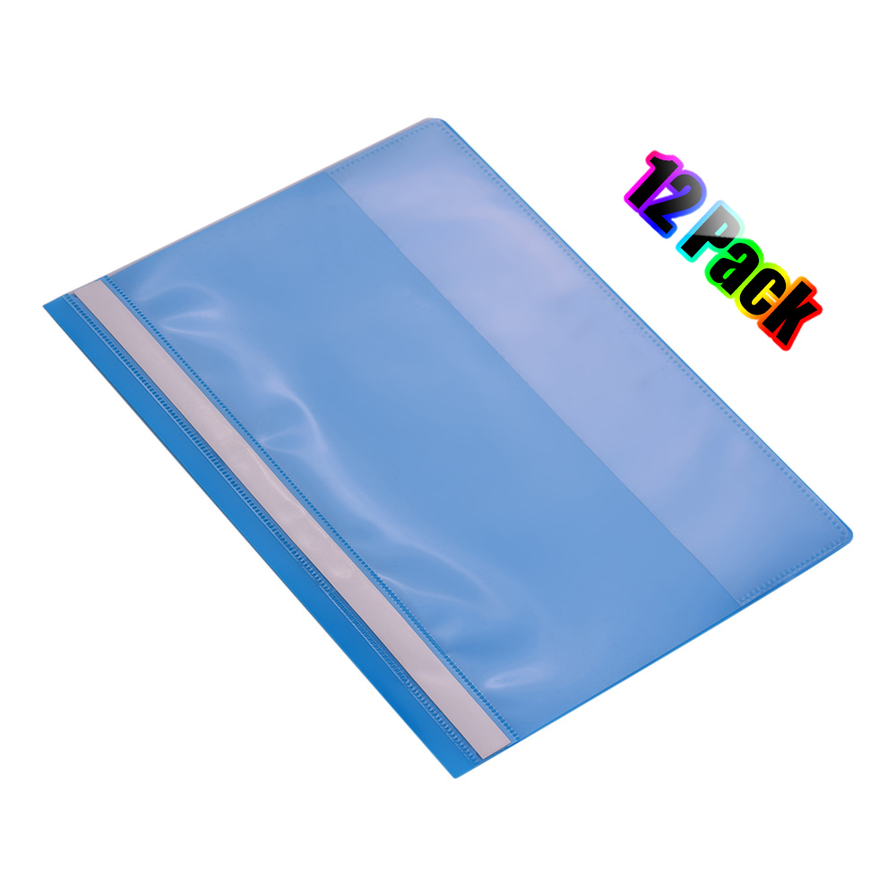 Report Covers 12pcs Clear FrontProject File Protector Letter Size With Fasteners For School Office Supplies Organizer