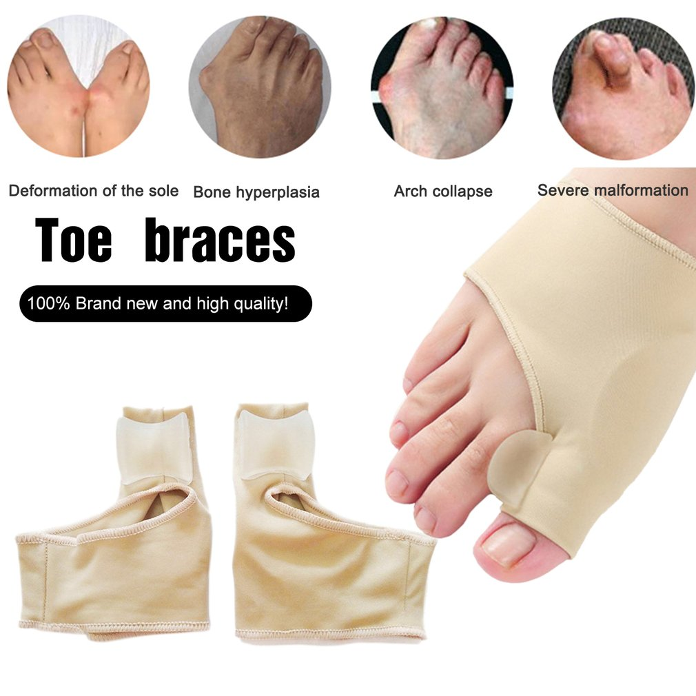 A Pair/Set Comfortable Soft Bunion Protector Toe Straightener Toe Separating Silicone Toe Separators Thumb Feet Care Adjuster