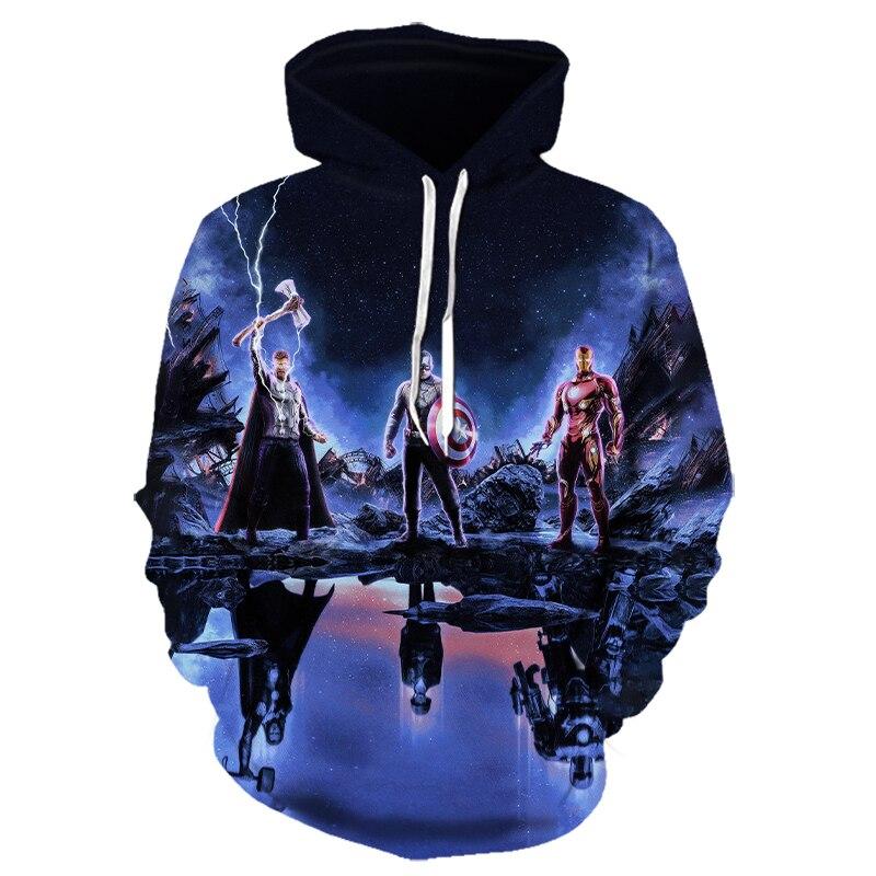 3D Printed Avengers Endgame Quantum Realm Cosplay Costume Sweatshirt Superhero America Captain Marvel Jacket Hoodie Large Size
