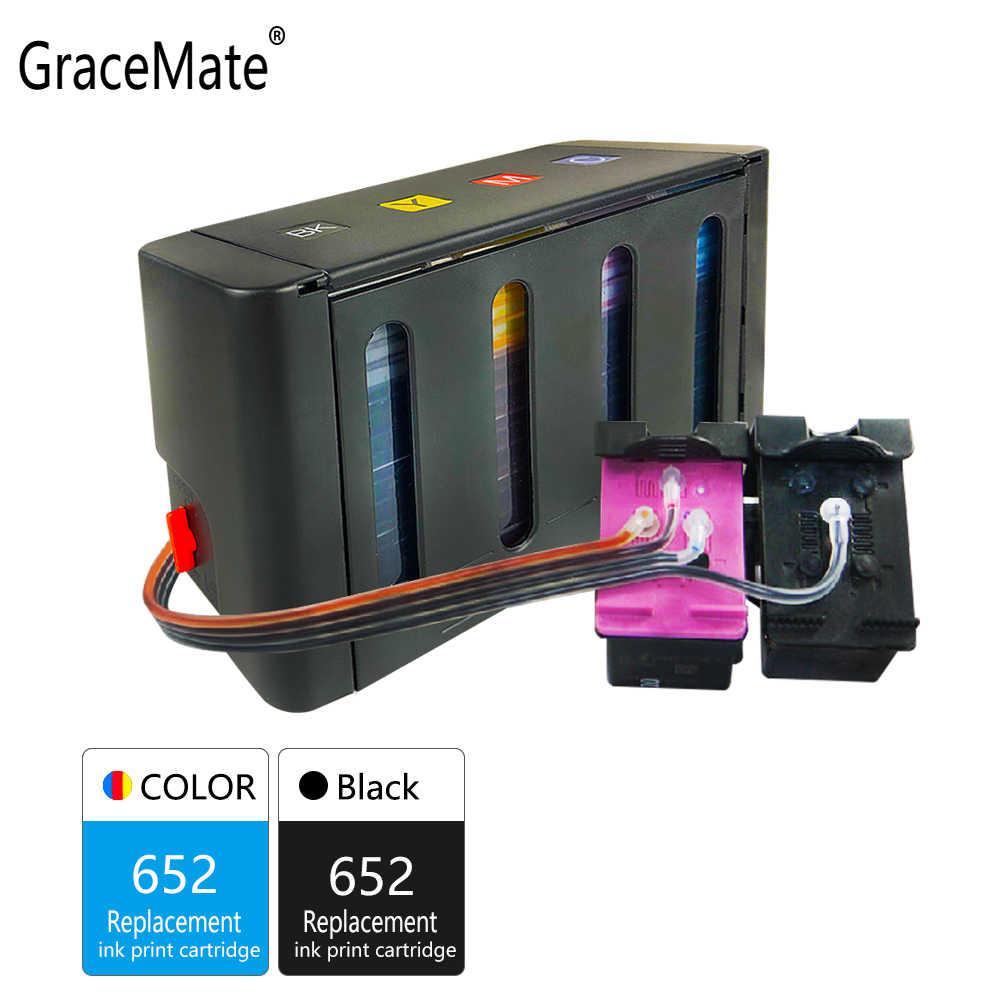 GraceMate 652XL كيبك السائبة الحبر استبدال ل HP 652 منضدية 1115 1118 2135 2136 2138 3635 3636 3835 4535 الطابعة خراطيش