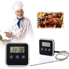 2019 Instant Read Eddingtons Digital Thermometer Timer Kitchen BBQ Meat Thermometer With Remote Probe Oven Temperature Gauge цена